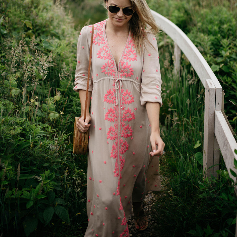 Long Hippie Boho Dress - mookyboutique
