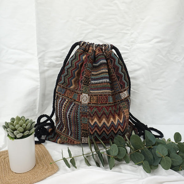 Hippie Drawstring Backpack - mookyboutique