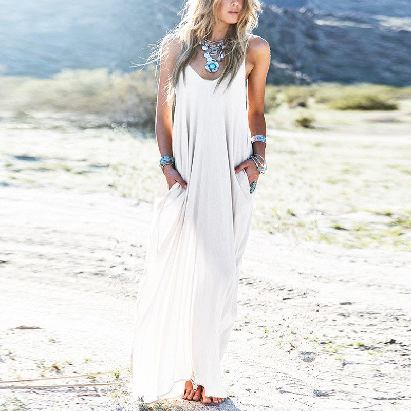 Summer Boho Maxi Beach Dress - mookyboutique