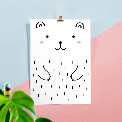 Haru the Bear Poster, A3, Posters & Prints - Made of Sundays