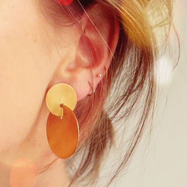 Big Dot Small Dot Lamina Earrings