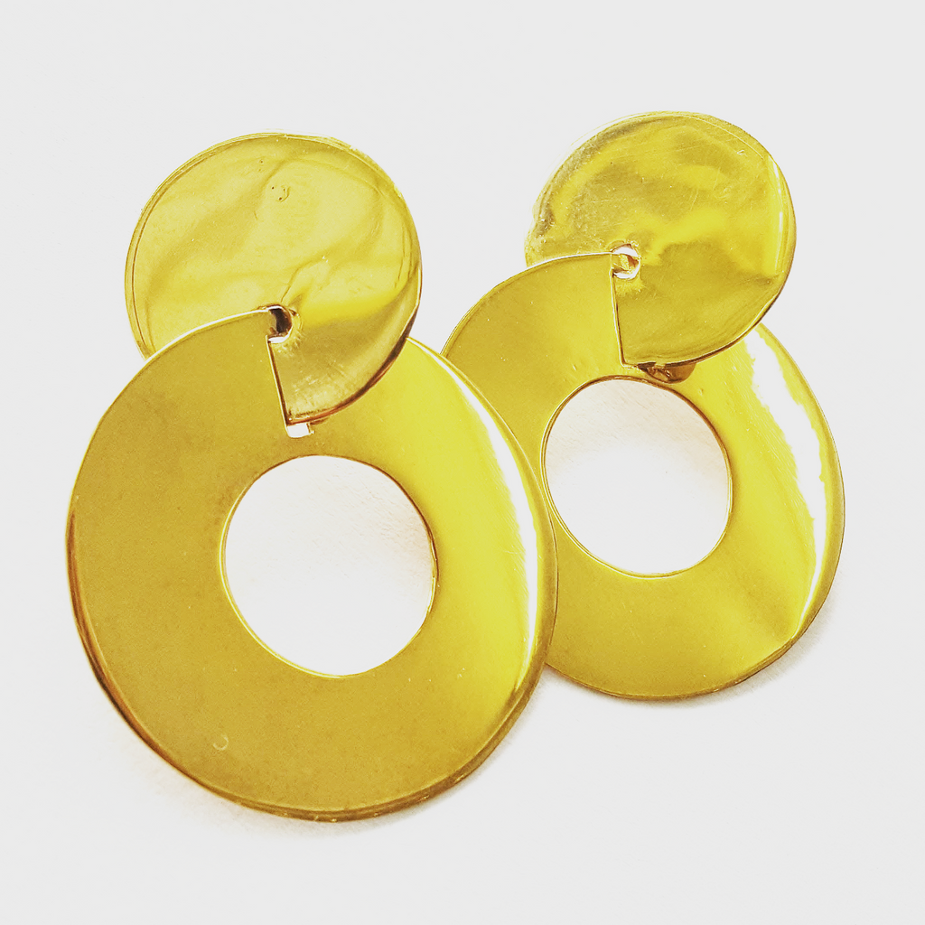 Double dot Lamina earrings