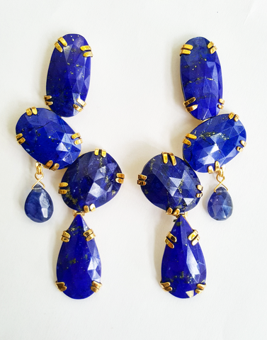Lapis Lazuli balancing stone earrings