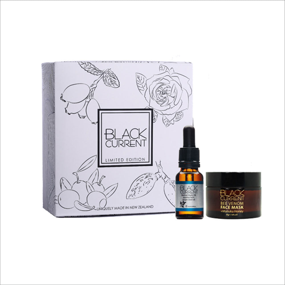 Black Current Revival Night Oil with Mask Collection