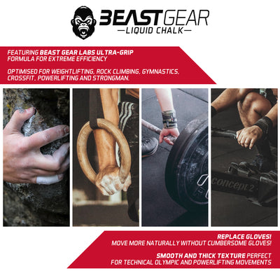 Beast Gear Liquid chalk for weightlfiting crossfit powerlifting strongman rock climbing pole dancing bouldering grip