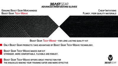 Advanced Inner Boxing Gloves / Gel Mitts - Beast Gear