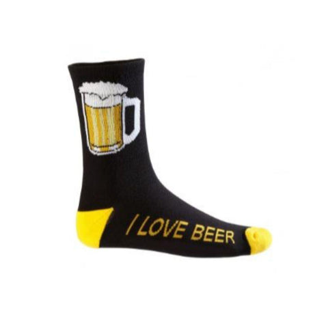Beer Mug Cycling Socks Black/Yellow - Mycyclingpro