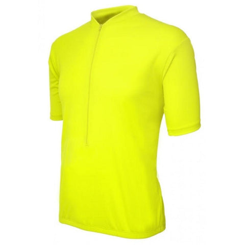 Classic Mens Jersey Neon Yellow - Mycyclingpro
