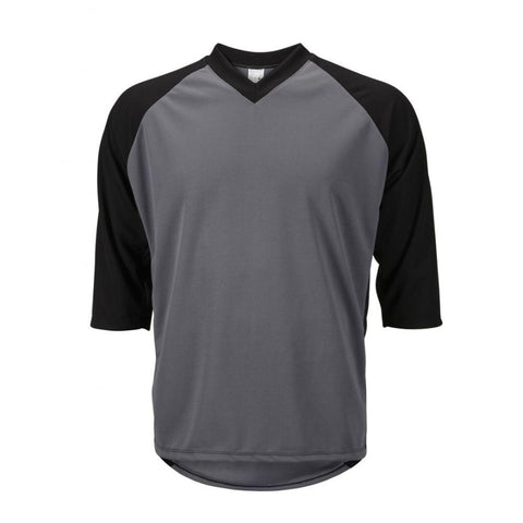 Mens 3/4 Sleeve Mountain Bike Jersey Gray/Black - Mycyclingpro