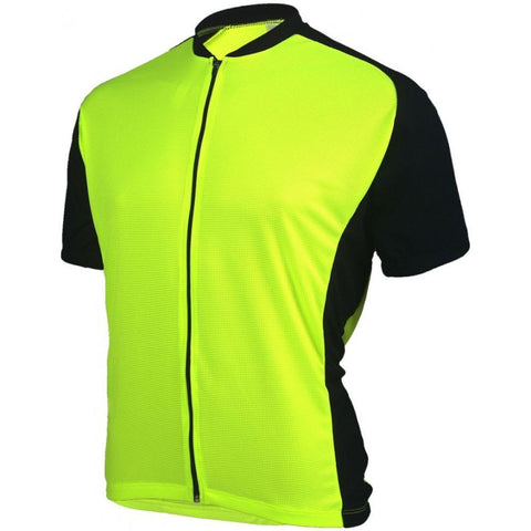 Mens Club Jersey Neon Yellow - Mycyclingpro