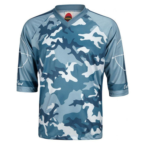 Outlaw Men's Mountain Bike Jersey Blue Camo - Mycyclingpro