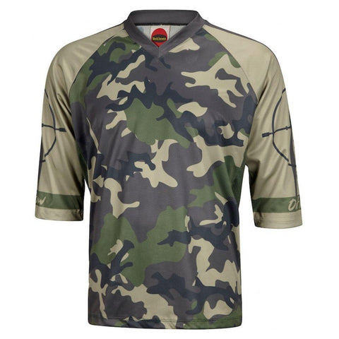 Outlaw Men's Mountain Bike Jersey Green Camo - Mycyclingpro