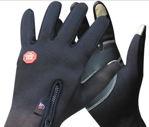 Cycling Outdoor Winter Thermal Sports Bike Gloves Windproof Warm Full Finger