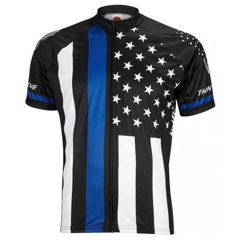 Thin Blue Line Mens Cycling Jersey - Mycyclingpro