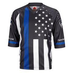 Thin Blue Line Mens Mountain Bike Jersey - Mycyclingpro