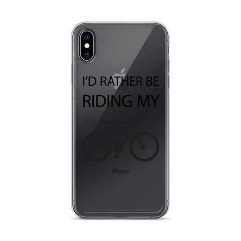iPhone I'd Rather Be Riding My Bike Case - Mycyclingpro