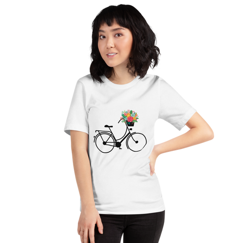 Bicycle and Flowers Women's T-Shirt - Mycyclingpro