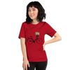 Image of Bicycle and Flowers Women's T-Shirt - Mycyclingpro