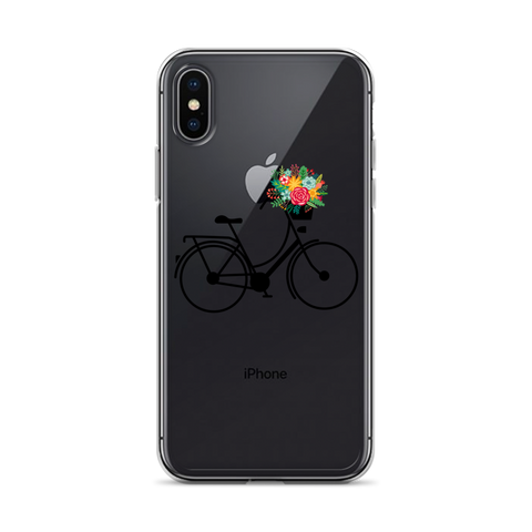 iPhone Bicycle and Flowers Case - Mycyclingpro