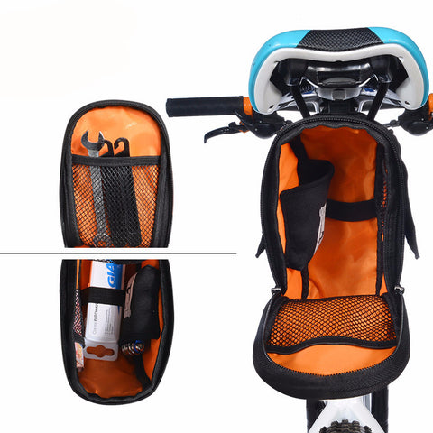 Bicycle Saddle Water proof Bag With Water Bottle Pocket