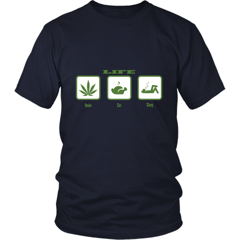 Eat, Sleep and Smoke (Life) Tee Shirt