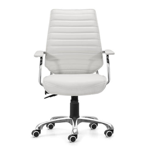"Image of White Angular Low Back Office Chair 25"" X 23.5"" X 40.5"""