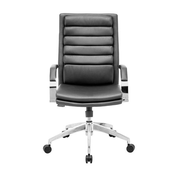 "Black Leatherette Comfort Office Chair 27.5"" X 27.5"" X 47.6"""