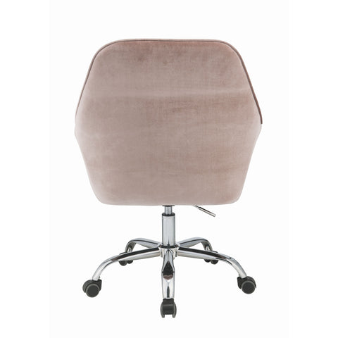 Mauve Rose Velvet Office Chair