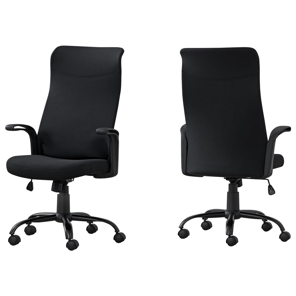 "Black Fabric Multi Position Office Chair 24.75"" x 24"" x 83.5"""