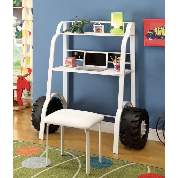 Black Tank Kids Desk & Stool Set in Black or White