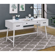 Tim Mid-Century Modern Writing Desk in White