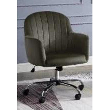 Annecy Adjustable Contemporary  Rolling Office Chair in Brown