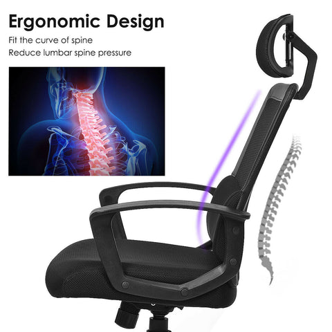 Mesh Office Chair High Back Ergonomic Swivel Chair