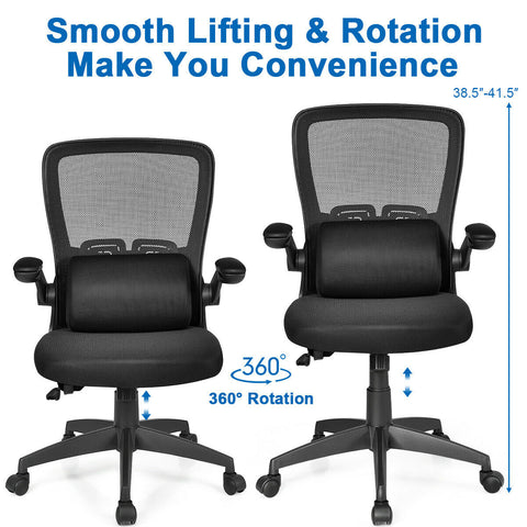 Ergonomic Massage Desk Chair with Flip up Armrest