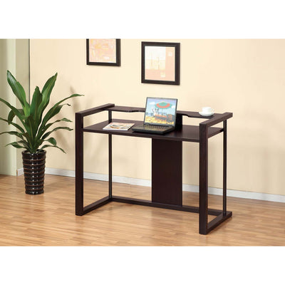 Lappe Contemporary Office Writing Desk in Cappuccino