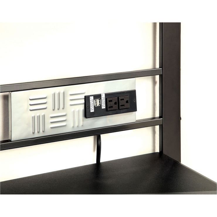 Linon Race Inspired Metal Desk in Dark Metal