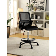 Umah Contemporary Height-Adjustable Swivel Office Chair Black or White