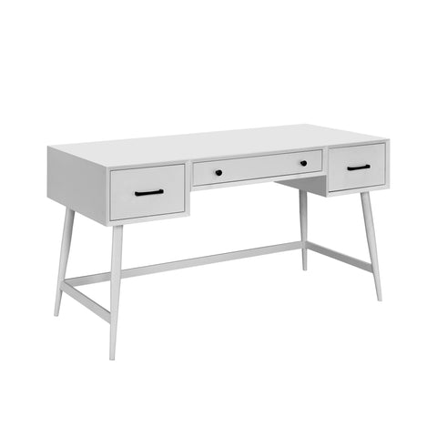 Image of Tim Mid-Century Modern Writing Desk in White