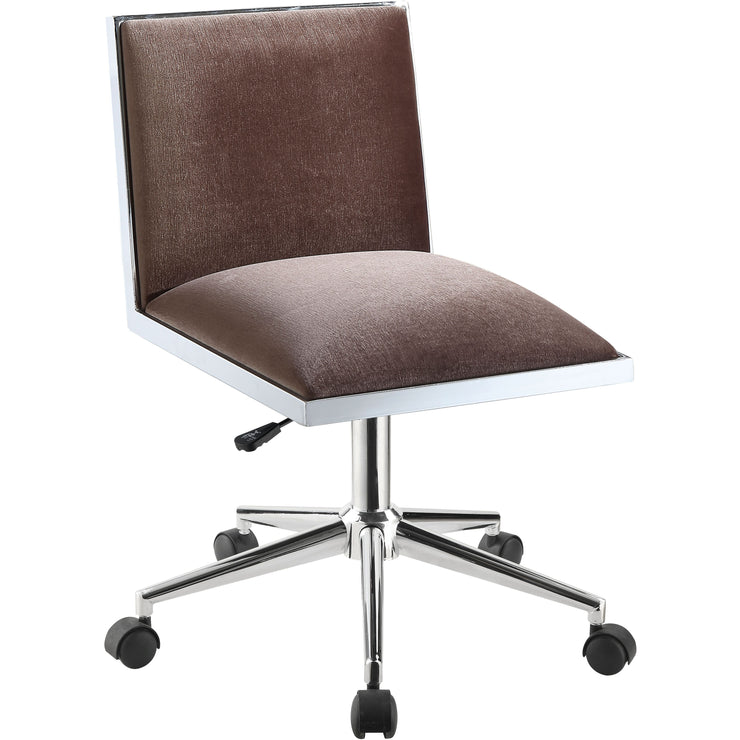 Woodbury Contemporary Armless Office Chair in Black or Brown