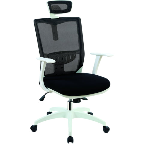 Dirkon Contemporary Style Mesh Swivel Office Chair in Black