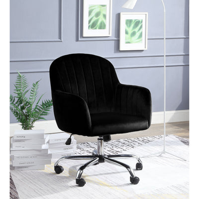 Annecy Adjustable Contemporary Office Chair in Black & Grey