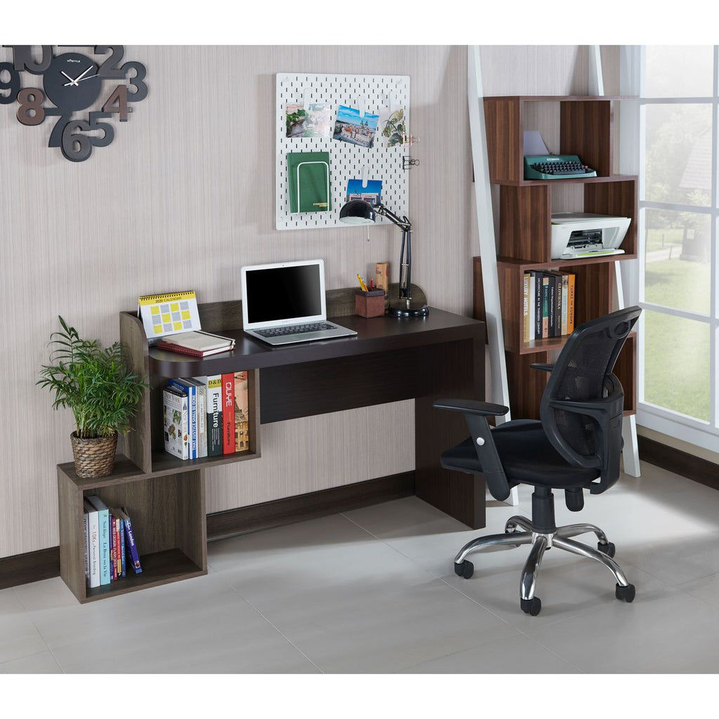 Ray Contemporary Two Tone Weathered Wood Writing Desk
