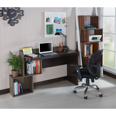 Image of Ray Contemporary Two Tone Weathered Wood Writing Desk