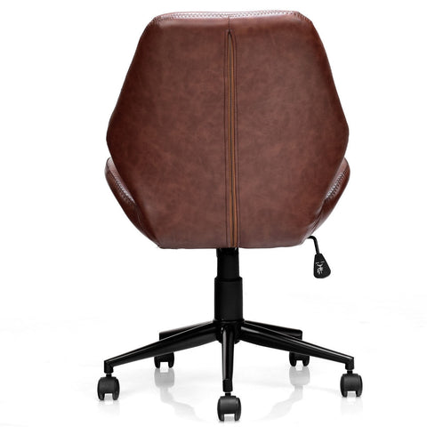 Home Office Leisure Mid-back Upholstered Rolling Chair
