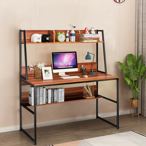 "Image of 47"" Writing Table Workstation Computer Study Desk"