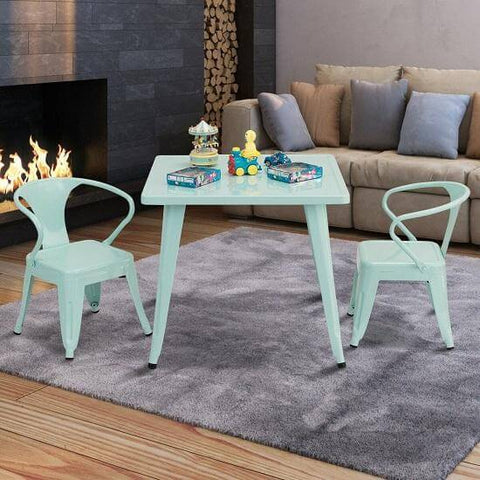 Costway 27'' Kids Square Table Play Learn Activity Table