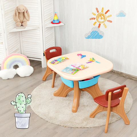 Kids Activity Table & Chair Set Play Furniture With Storage