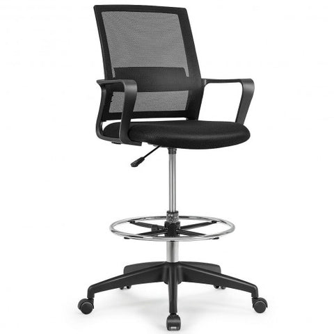 Image of Tall Drafting Office Chair with Adjustable Height