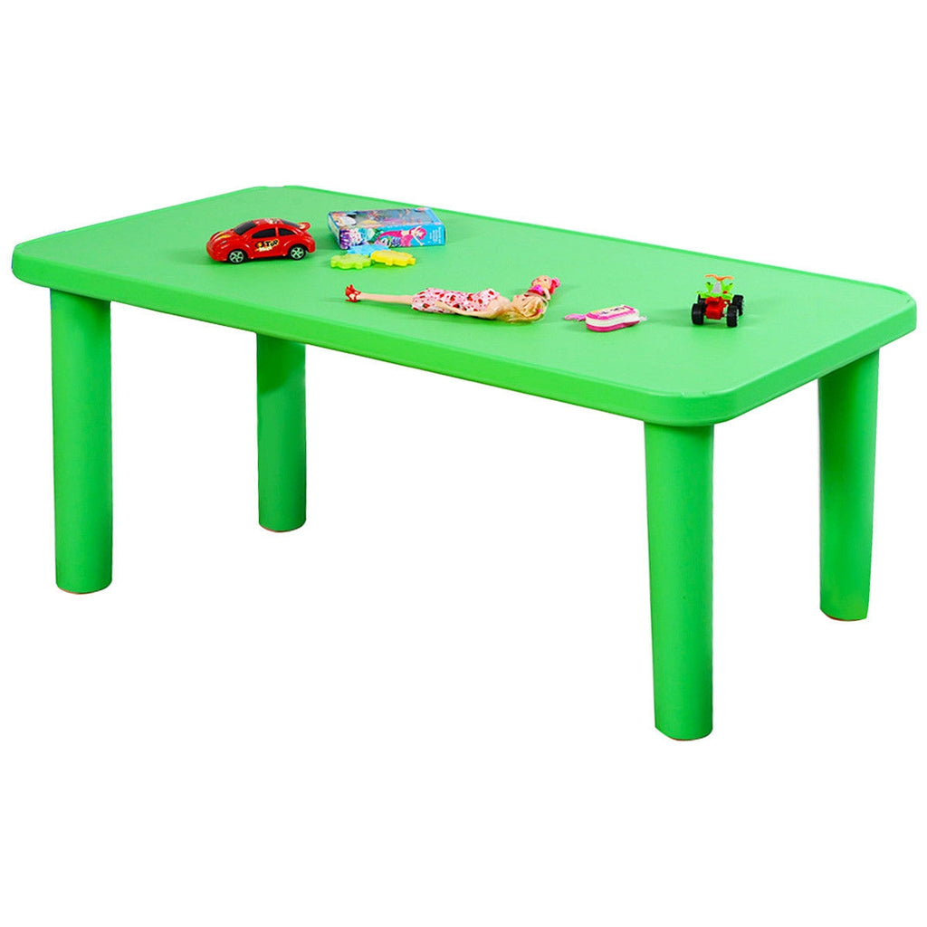 Kids Colorful Plastic Table with 4 Chairs Set
