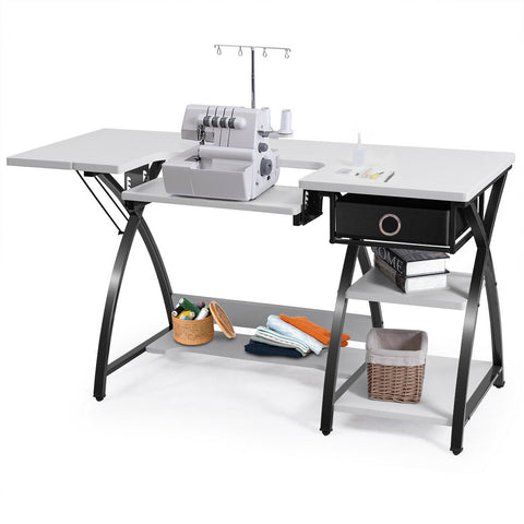 Image of Sewing Craft Table Folding Computer Desk